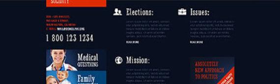 Plantillas web Política